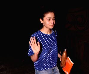 Alia Bhatt seen at a salon