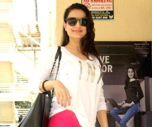 Ameesha Patel seen at a cinema theatre