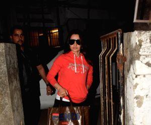 Ameesha Patel seen at a salon in Juhu