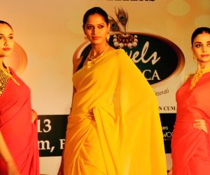 Actress and Brand Ambassador Priyanka Upendra and models partakes on the ramp showcasing jewellery treasures of Jewels Exotica