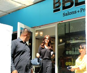 Anushka Sharma seen at a salon
