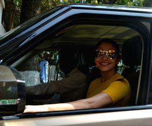 Anushka Sharma seen at a studio