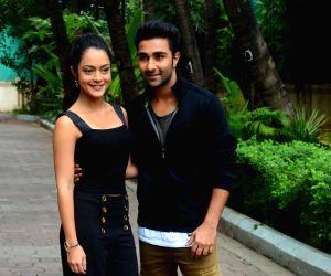 Anya Singh, Aadar Jhain during a programme