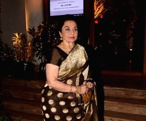 Asha Parekh at a wedding reception