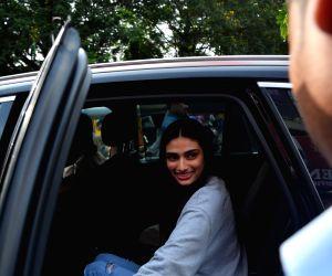 Athiya Shetty and Anshula Kapoor seen at a restaurant