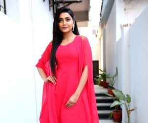 Avanthika Mishra during the launch of a salon