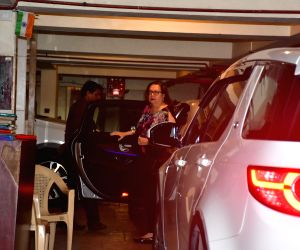 Salman Khan seen outside a dubbing studio