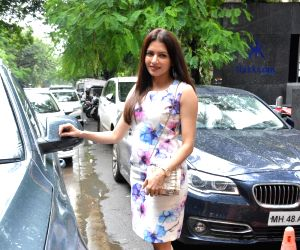 Bhagyashree seen at Mumbai's Bandra