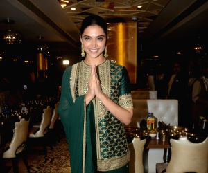 "Actress Deepika Padukone arrives  at Maharaja Bhog to celebrate the success of her recently released film ""Padmaavat"",  in Mumbai on Jan 27, 2018.  The Sanjay Leela Bhansali ..."