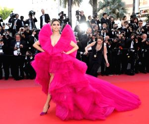 Actress Deepika Padukone at the Cannes red carpet for L'Oreal Paris.