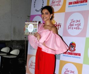 Actress Deepika Padukone at the launch of Lakshmi Nambiar, Reema Gupta and Sarada Akkineni's book 'The Dot That Went For A Walk' in Mumbai on Jan 17, 2019.