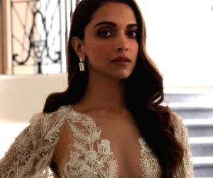Actress Deepika Padukone exudes elegance at Cannes.