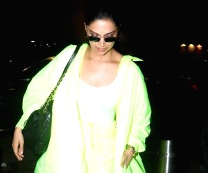 Actress Deepika Padukone seen at Chhatrapati Shivaji International Airport in Mumbai, on June 9, 2019.