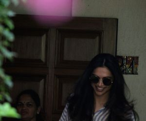 Actress Deepika Padukone seen at Mumbai's Bandra on April 22, 2018.