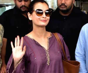 Dia Mirza at Jaipur International Airport
