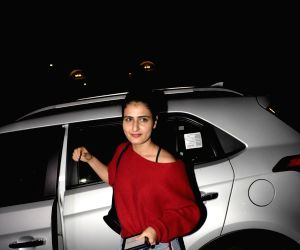 Fatima Sana Shaikh seen at a salon