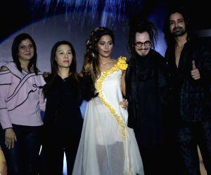 Hina Khan during a hair show