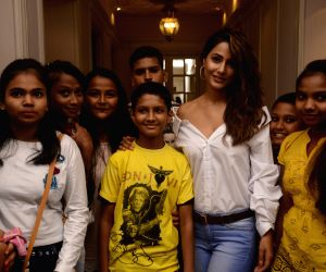 Hina Khan during a programme