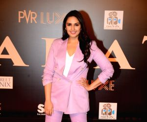 """Actress Huma Qureshi at the premiere of upcoming film """"Bharat"""" in Mumbai, on June 5, 2019."""