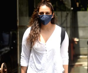 Huma Qureshi spotted at Pooja films office in Juhu