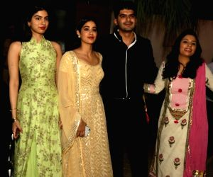 Actress Janhvi Kapoor along with her Khushi Kapoor attends the two day special screening of Sridevi's films at Madev Auditorium in New Delhi on Aug 13, 2018. Also seen Rajya Sabha Member ...