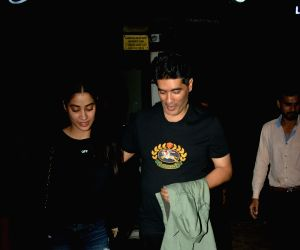 Janhvi Kapoor and Manish Malhotra seen at Mumbai's Bandra