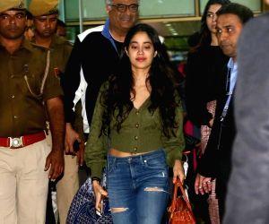 Janhvi Kapoor arrive for Isha Ambani-Anand Piramal's pre-wedding functions