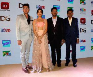 Boney Kapoor, Satish Kaushik, Janhvi Kapoor at a channel launch