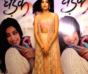 "Ishaan Khattar, Janhvi Kapoor during the promotions of ""Dhadak"