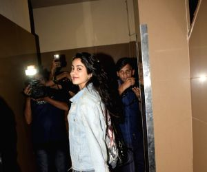 Janhvi Kapoor seen at a cinema theatre