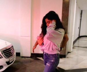 Janhvi Kapoor seen at Manish Malhotra's residence