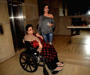 "Special screening of film ""Dhadak"" - Janhvi Kapoor and Nirmal Kapoor"