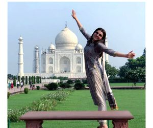 Actress Kajal Aggarwal is visiting the Taj Mahal for the first time and is mesmerised by its beauty. The actress has flooded her Instagram with photos clicked at the stunning heritage monument where ...