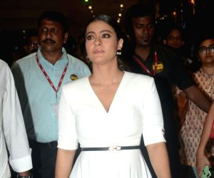 Kajol during inauguration of a beauty