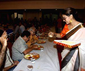 Kajol with family celebrate Durga Puja