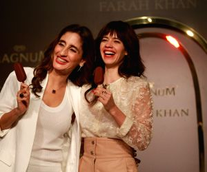 Launch of the Magnum X ice cream - Kalki Koechlin and Farah Khan Ali