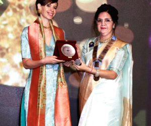 "Kalki Koechlin, Shabana Azmi during ""Kadam Sapno Ki Ore"" programme"