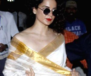 Kangana Ranaut arrives in Bhopal