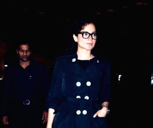 "Actress Kangana Ranaut has taken off to Los Angeles, US with the ""Thalaivi"" team for a look test. She returned from Thailand on Tuesday evening after attending an event, and is now on her way to the US where she will be undergoing various look tests"