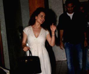 Actress Kangana Ranaut seen at Juhu, Mumbai on May 24, 2018.
