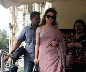 Actress Kangana Ranaut seen at PVR Juhu in Mumbai on May 28, 2018.