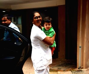 Taimur seen at Mumbai's Bandra