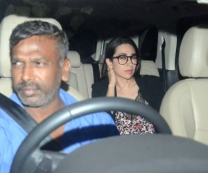 "Actress Karisma Kapoor at the special screening of upcoming film ""Dhadak"" in Mumbai on July 18, 2018."