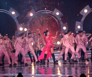 Actress Katrina Kaif performs on stage during the grand finale of the beauty pageant at Sardar Vallabhbhai Patel Indoor Stadium in Mumbai on June 16, 2019.