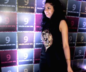 Kavita Kaushik during the launch of a Salon and Spa
