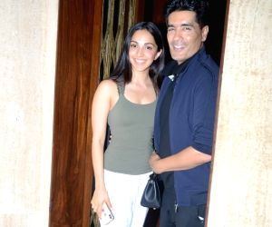 Kiara Advani seen at Manish Malhotra's residence