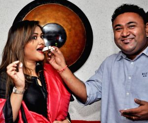 Koneenica Banerjee at the launch of a restaurant's outlet