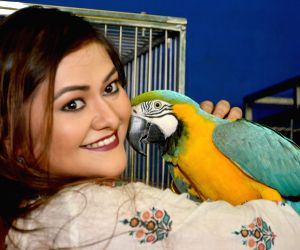 Koneenica Banerjee during inauguration of a bird show