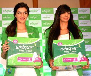 Kriti Sanon and Sharmila Nicollet launch sanitary napkins