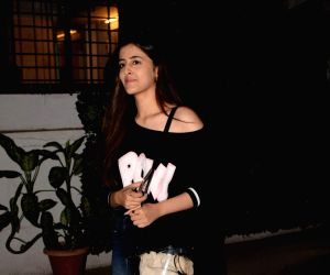 Kriti Sanon's sister Nupur Sanon seen at Cromekay